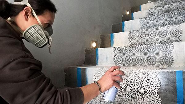 διακόσμηση με stencil