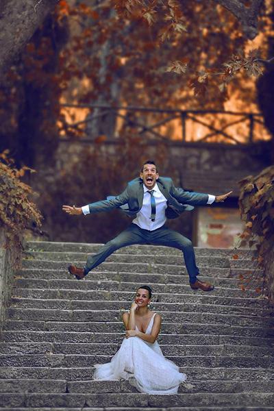 φωτογραφίες γάμου με πυροτεχνήματα