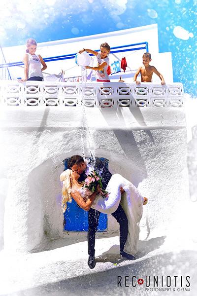φωτογράφηση γάμου σε νησί